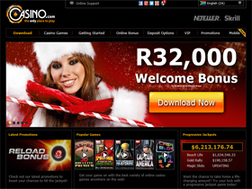 Casino.com Home page Screenshot